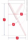 Zoldertrap Roto Cadet hout Vouwbaar in 3 delen maten
