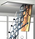 armleuningZoldertrap Roto Exclusief Aluminium schaartrap telescopische armleuning