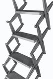 Zoldertrap Roto Junior verticaal Aluminium schaartrapmet veersysteem
