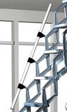 Vlieringtrap Roto Junior verticaal Aluminium schaartrap met veersysteem