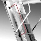 Zoldertrap Roto Platdak uitgang hout Vouwbaar in 3 delen armleuning